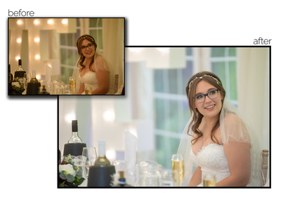 Bride during the speeches on her wedding day
